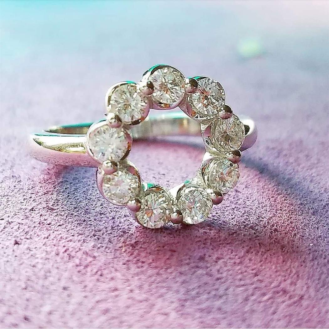 Open Circle Diamond Ring