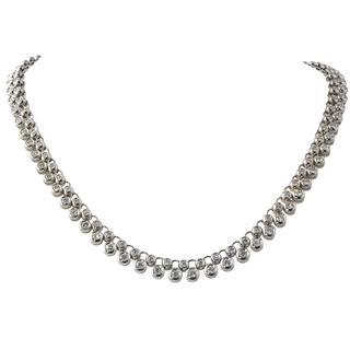 Bezel Set Two-Row Diamond Necklace
