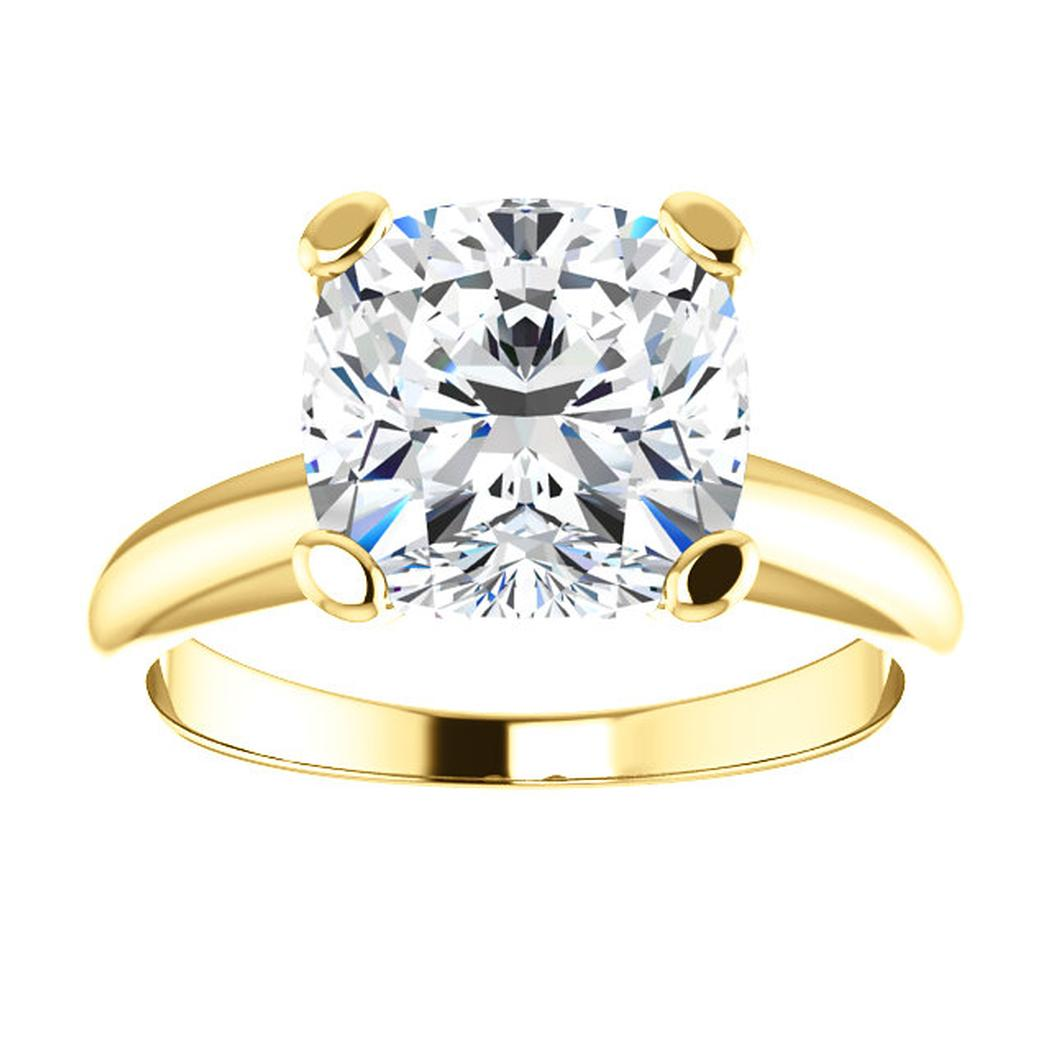 14kt Yellow Solitaire Diamond Engagement Ring Mounting