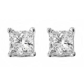 .20 ct Princess Cut Diamond Stud Earrings