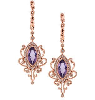 Amethyst and Diamond Pallette Earrings