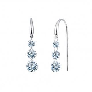 Lafonn Simulated Diamond Three Stone Earrings