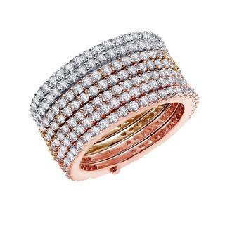 Lafonn Simulated Diamond Tri-Toned Ring