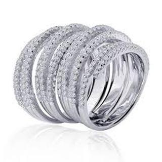 Lafonn Wide Simulated Diamond Multi Row Ring