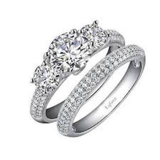 Lafonn Simulated Diamond Pave Wedding Set