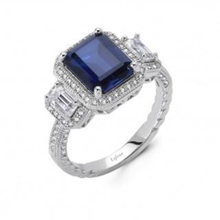 Lafonn Simulated Sapphire and Diamond Ring