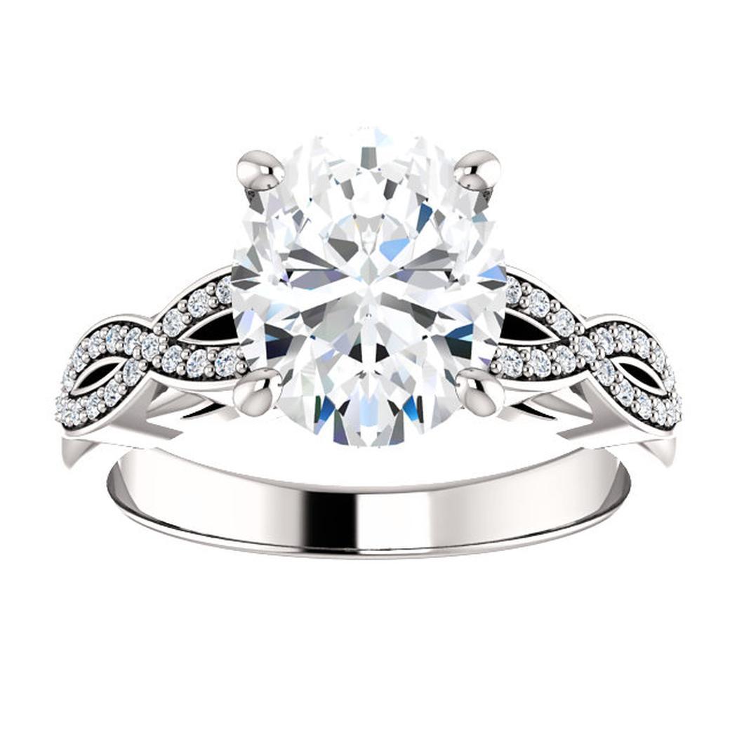 14kt White .25ct Criss-Cross Diamond Engagement Ring
