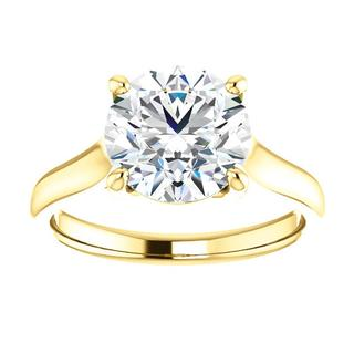 14kt Yellow Solitaire Engagement Ring Mounting