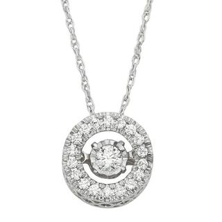 10kt White Diamond .28 ct Heartbeat Necklace