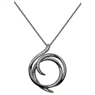 Sterling Silver Regents Helix Ruthenium Necklace