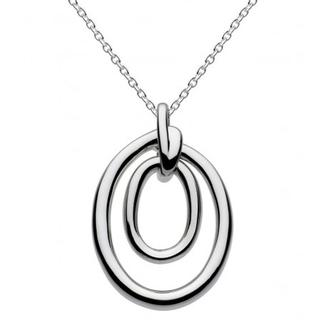 Sterling Silver Constance Oval Knot Necklace