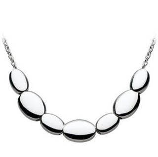 Sterling Silver Pebble Bead Slider Necklace
