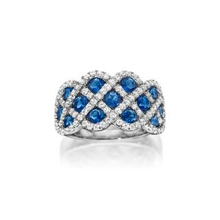 14kt White Legacy Sapphire and Diamond Ring