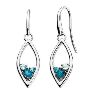 Sterling Silver Serene Blue Topaz Earrings