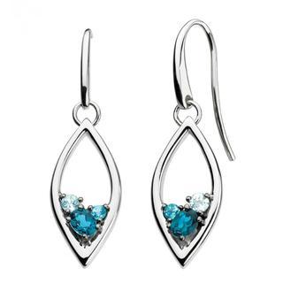 Sterling Silver Serene Blue Topaz Earrings