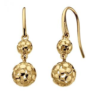 Sterling Silver Champagne Double Drop Earrings