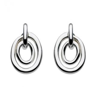 Sterling Silver Constance Oval Knot Earrings