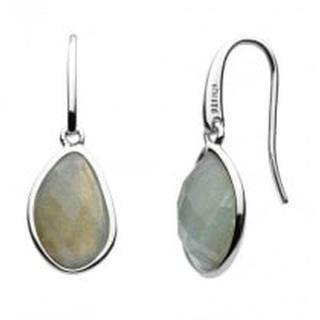 Sterling Silver Labradorite Ore Drop Earrings